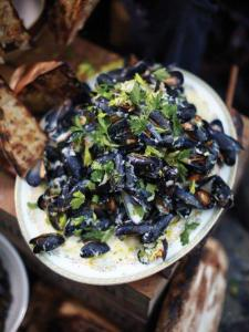 Highland mussels – juicy whisky creamy