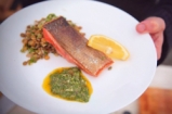 Panfried Crispy Salmon with Salsa Verde | Bart's Fish Tales