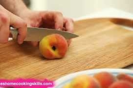How to prepare a peach - Jamie Oliver's Home Cooking Skills