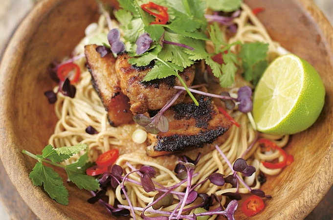 Crispy Pork with Noodles - Jamie at Home