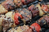 BBQ Lamb Kebabs With Pomegranate Glaze & Tahini Dressing | DJ BBQ