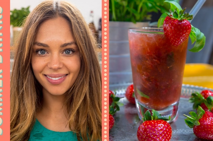 Strawberries, lemon & mint | Fruit Recipes | Jamie Oliver Recipes