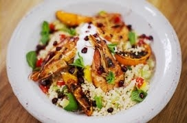 Moroccan Prawns with Fluffy Couscous