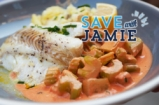 Easy Fish and Braised Celery | #SAVEWITHJAMIE | Sorted Food