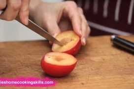 How to prepare a plum - Jamie Oliver's Home Cooking Skills