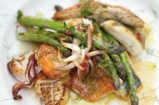Asparagus & Mixed Fish Grill | Jamie Oliver