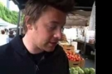 Jamie Oliver talks aubergines at a market in Los Angeles - Jamie's American Road Trip