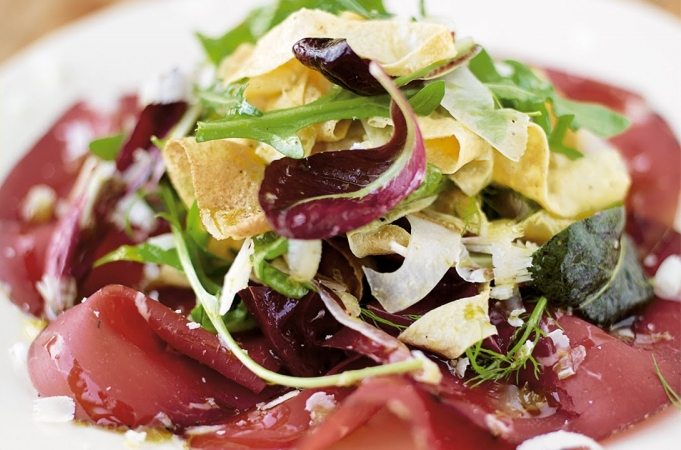 Omelette Salad & Bresaola - Jamie at Home
