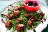 Aaron's Chicken Wing Lollipops & Homemade Cranberry Sauce
