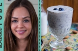 Dairy-Free Blueberry & Banana Milkshake | Danielle Hayley