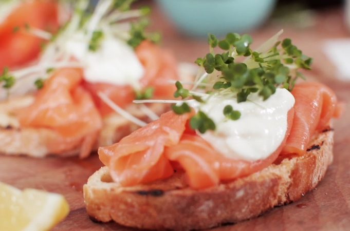 Smoked Salmon & Horseradish Canapes