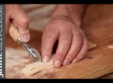 How to shape farfalle pasta with Gennaro