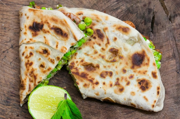 Pea & Feta Quesadillas