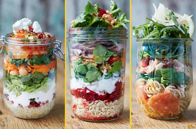 Healthy Jam Jar Salads