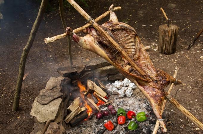 Spit Roast Lamb