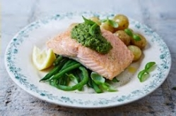 Pan-fried Salmon & Pesto Veg | Jamie Oliver