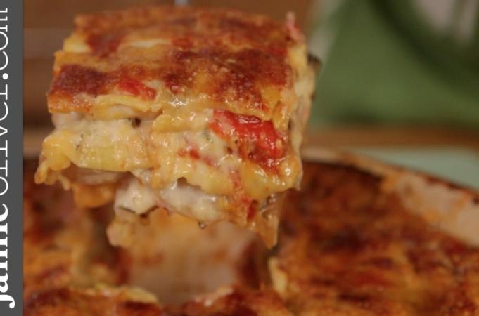 Jamie's Mate Pete Cooks Roast Vegetable Lasagne