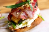 Pancetta, Fig & Cheese Crostini   French Guy Cooking