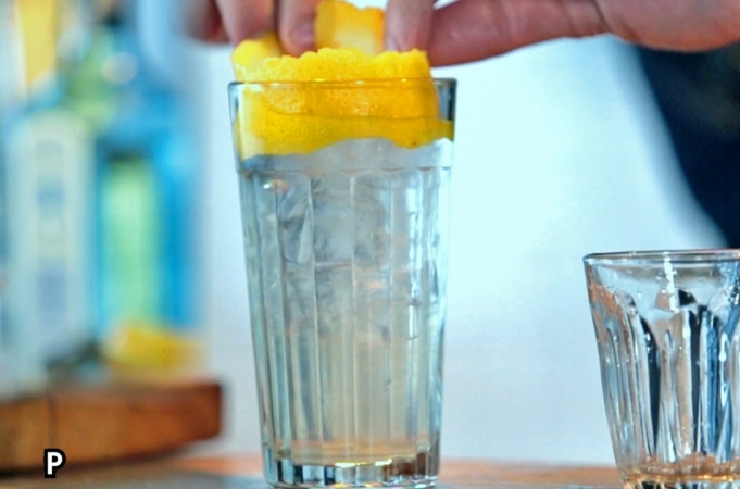 Tom Collins Cocktail With A Spring-time Twist