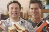 Jamie Oliver and Kevin Bacon | The Great Bacon Sarnie Battle