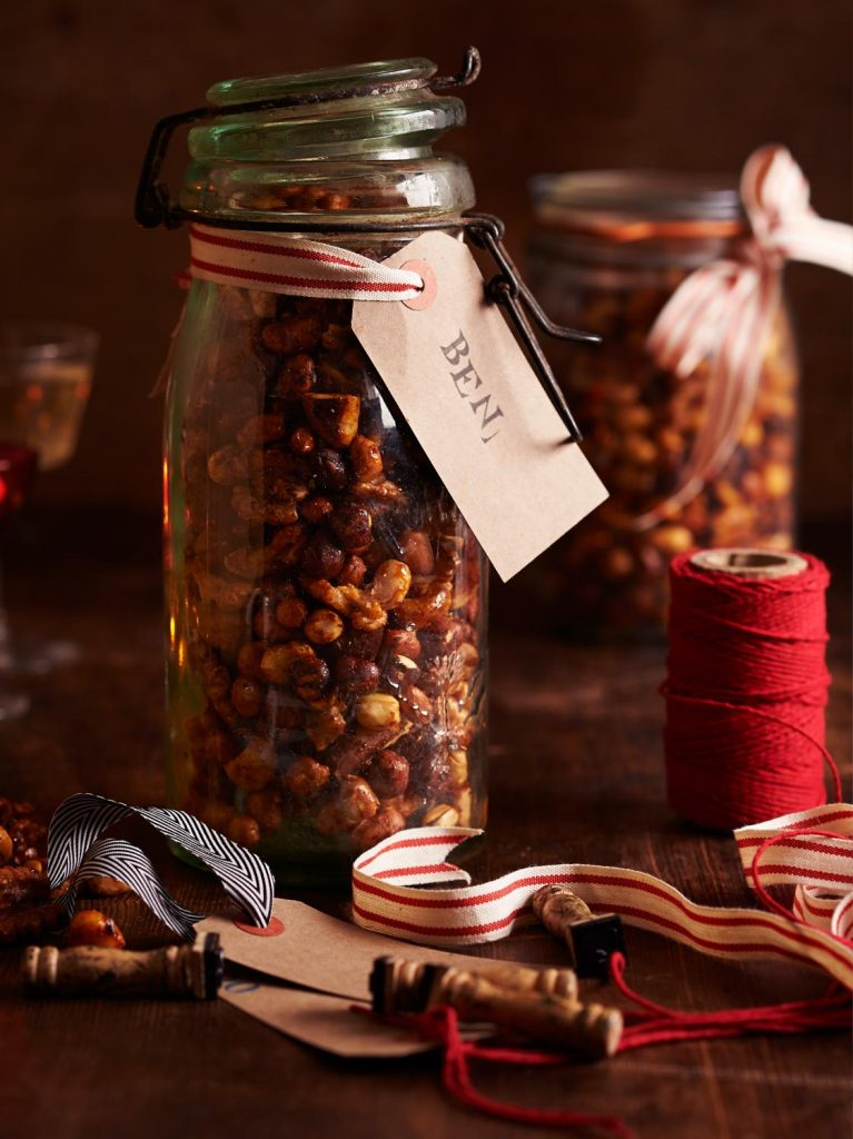 Spiced honey-roasted nuts