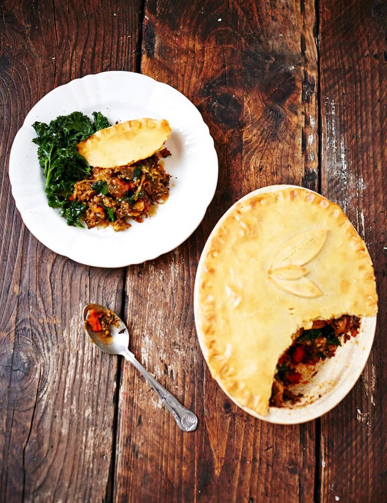 Gluten-free curried veggie pie