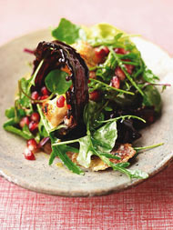Candied bacon salad