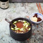 miso soup with spring onions