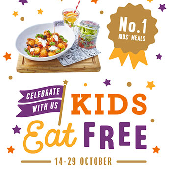Kids eat free at Jamie's Italian - book now!