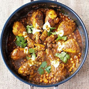 Beautiful chicken & chickpea curry