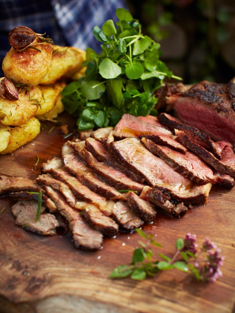 The ultimate steak with vinegar roasties