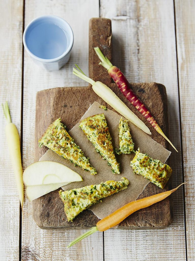 Michela's kale, ricotta & squash omelette