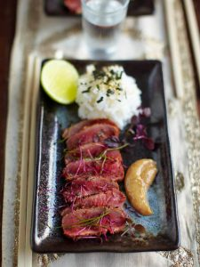 Posh Japanese inspired beef carpaccio