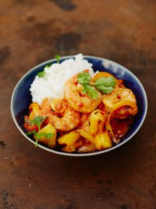 Szechuan sweet and sour prawns
