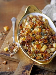 Gluten free parsnip, pork & apple stuffing