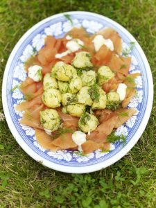Potato salad with smoked salmon