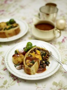 Mushroom and squash vegetarian wellington