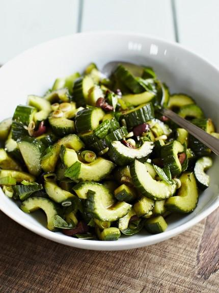 Balsamic-dressed cucumber