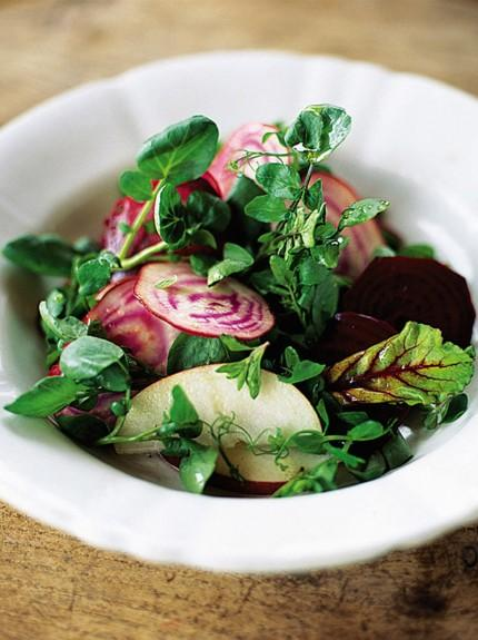 Beetroot, red apple and watercress salad