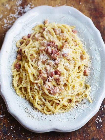Gennaro's classic spaghetti carbonara