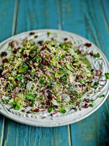 Wild rice & Brussels sprout super salad
