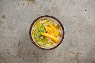 Kiwi, mango and passion fruit