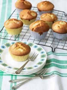 Gluten-free apple, almond & cardamom cupcakes