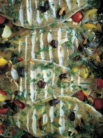 The nicest tray-baked lemon sole