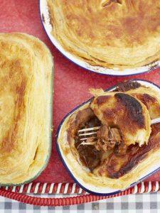 Scrumptious steak & stout pie