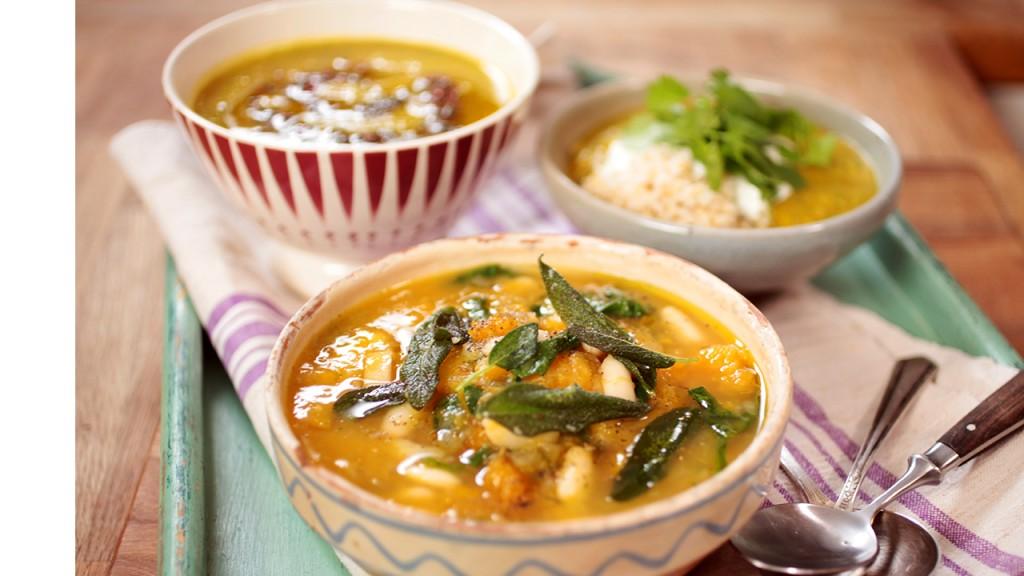 Easy vegetable soup 3 ways: Anna Jones