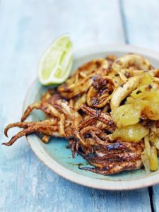 Squid with tamarind recado