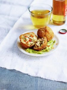 Coxinha with spiced avocado