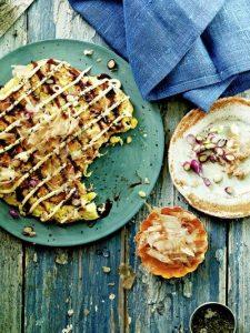 Sweetcorn okonomiyaki