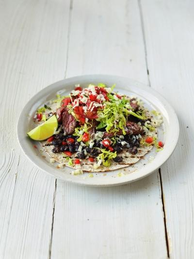 Sizzling steak burritos